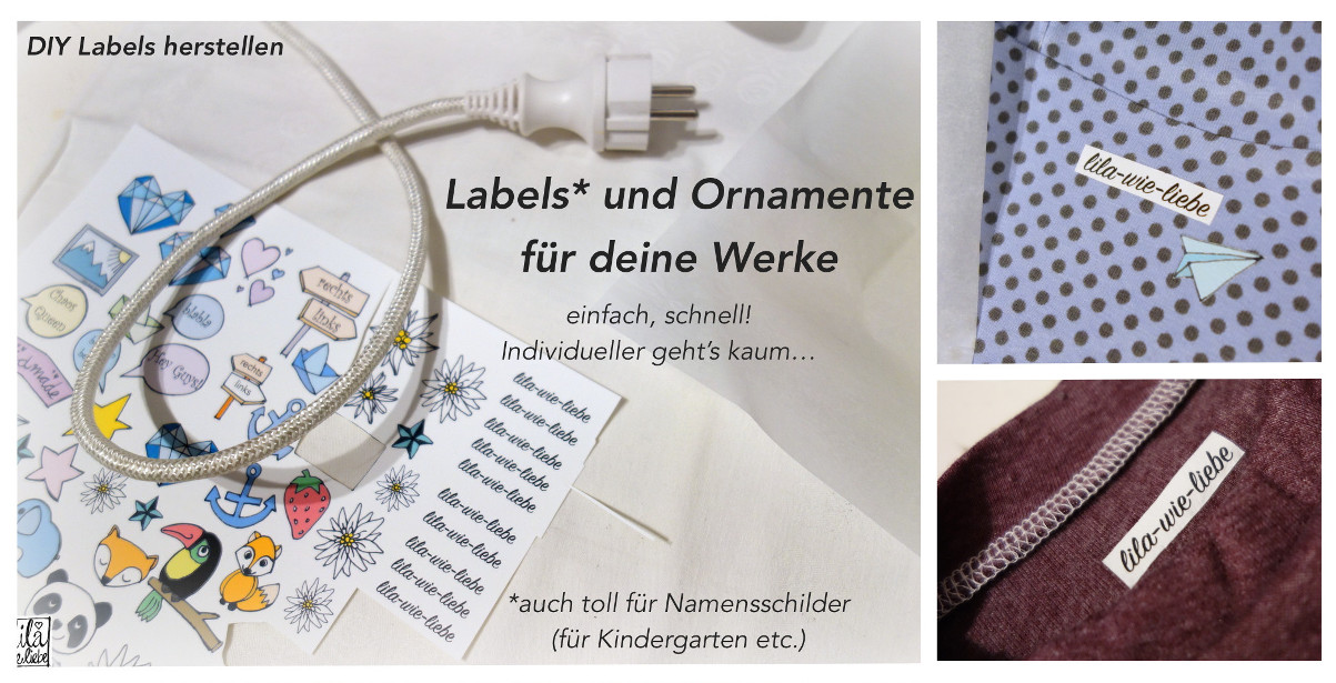 labels selbst herstellen f r dunkle stoffe lila wie liebe. Black Bedroom Furniture Sets. Home Design Ideas