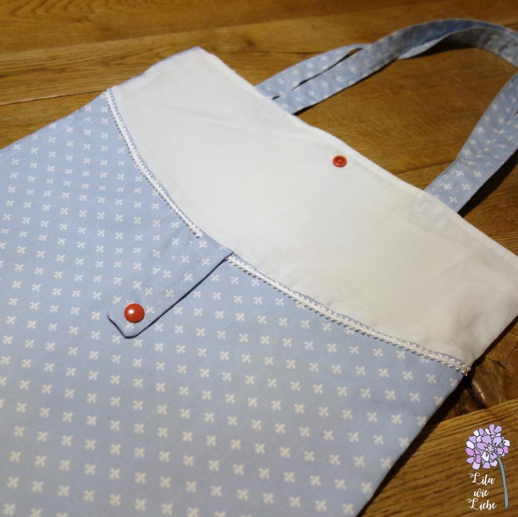 faltbare Einkaufstasche mit Innenfutter: BulliBag+ Freebook - Lila ...