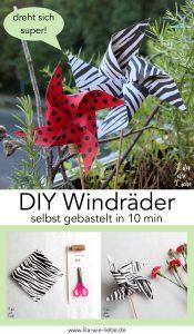 Windrad selbst gebastelt - 10 minuten DIY