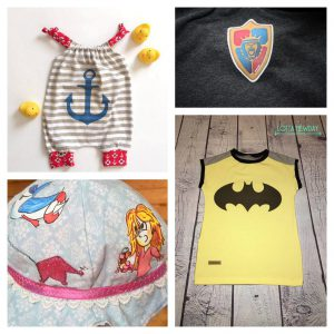 Stoffe mit T-Shirt-Transferfolie bebügeln, Labels designen