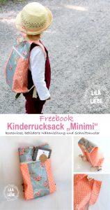 Rucksack nähen für Kinder, kostenloses Schnittmuster und bebilderte Schritt-für-Schritt-Anleitung