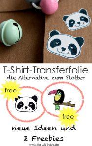 Transferfolie ist eine gute Alternative zum Plotter. Hier findet ihr ein paar Inspirationen und 2 Freebies!