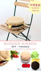 sitzkissen burger sofakissen - kostenlose anleitung - freebook