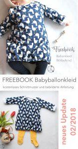 Freebook Ballonkleid für Babys und Kinder (Gr. 62 - 110) Lila wie Liebe