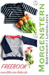 Babyshirt / Longsleeve selbst nähen - kostenlose Anleitung - Freebook