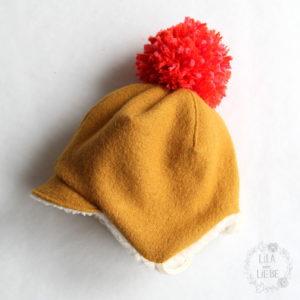 Mütze Herbst//Winter Baby Erstlingsmütze Mützchen mit Schal Ohrenschutz Warm