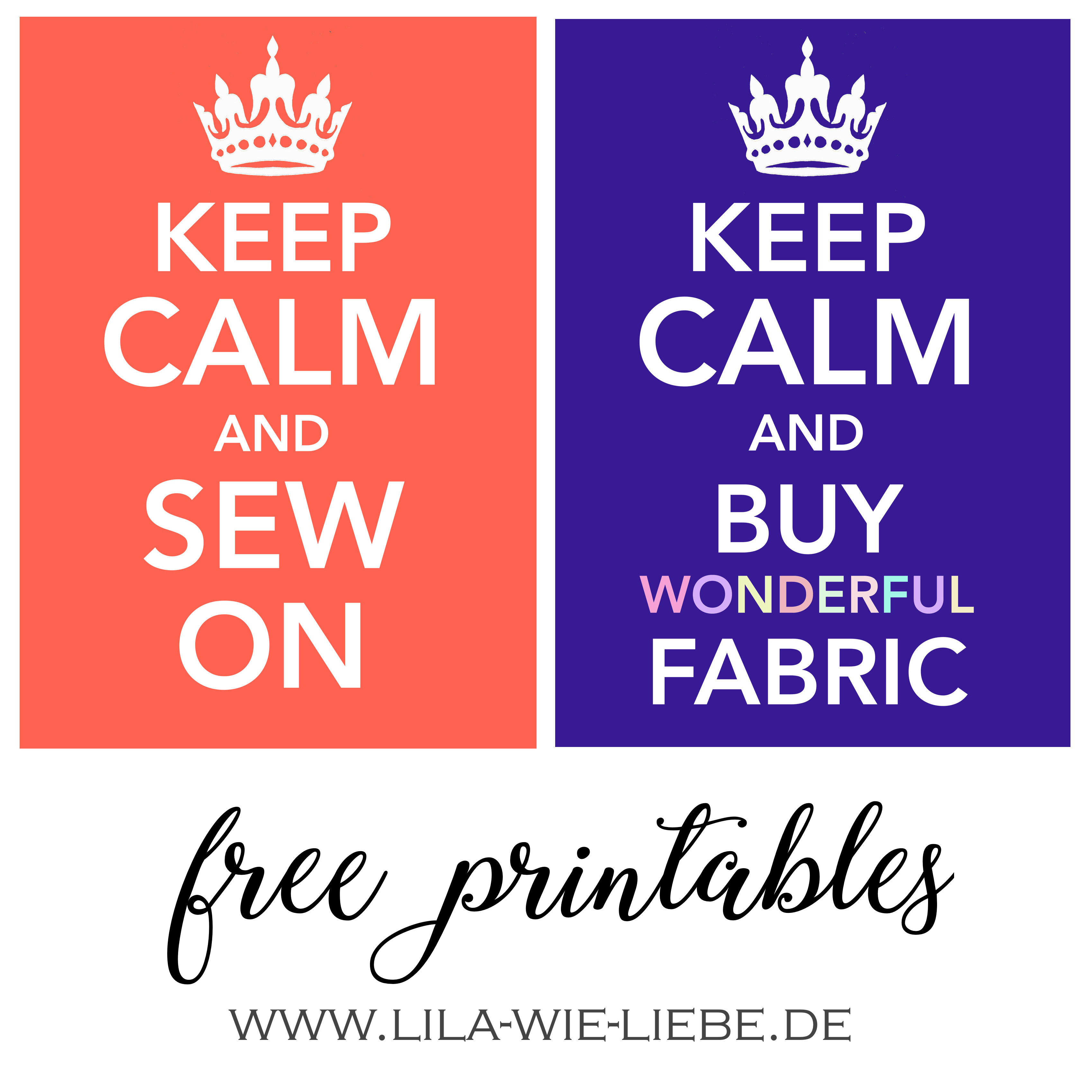 Keep calm and sew on - free printables / free downloads ...