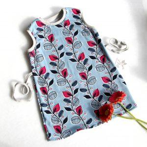 Jerseykleidchen für Kinder mit Blumenornamenten