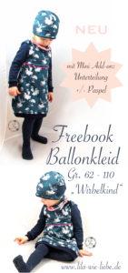 ballonkleid freebook kostenlose anleitung babys und kinder naehen