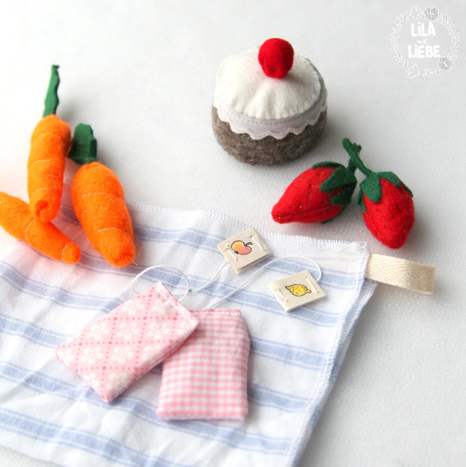 Diy Kaufladen Accessoires Essen Aus Filz Und Stoff Lila Wie Liebe