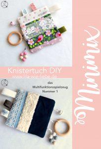 Knistertuch Multifunktionstuch Babyspielzeug DIY Minimix Freebook kostenlose Anleitung