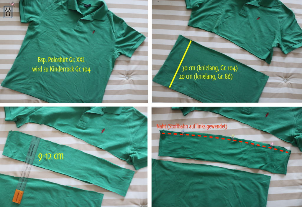 tutorial Kinderrock aus shirt