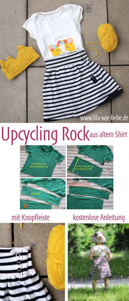upcycling kinderrock nähen aus shirt