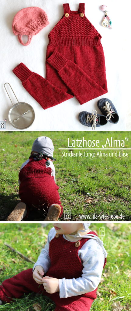 Stricklatzhose Alma nach Strickanleitung von Alma und Elise