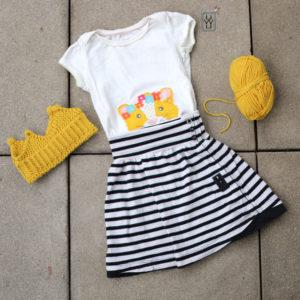 6b14ea882a Kinderrock mit Knopfleiste aus altem Shirt nähen – Upcycling – kostenlose  Anleitung