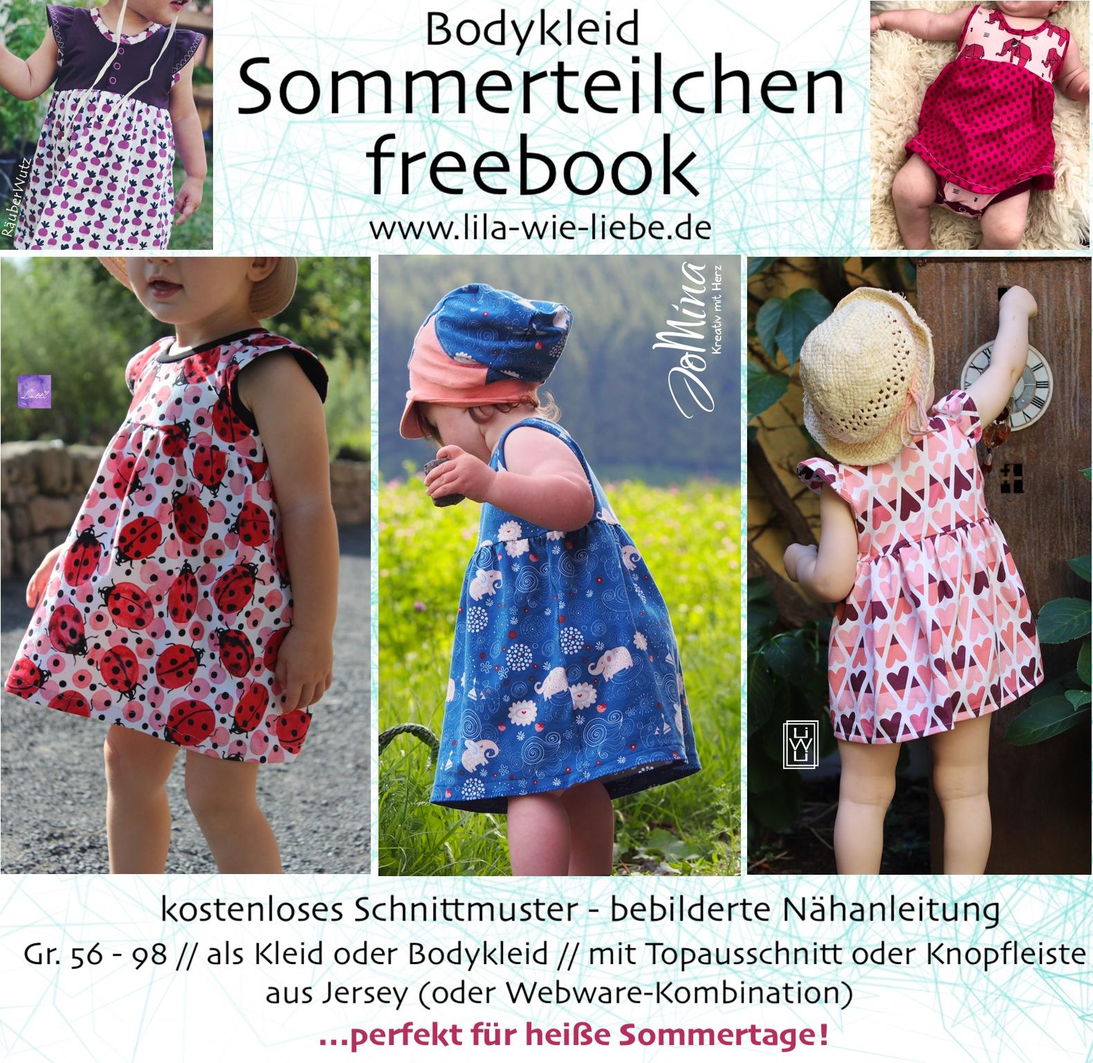 Kleid gratis download schnittmuster Sommerkleid nähen