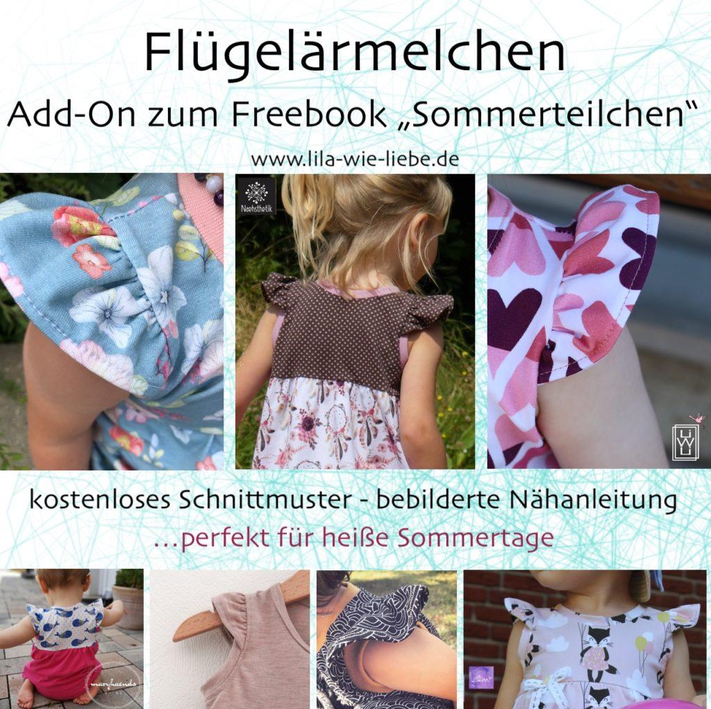 Flügelärmel Add-On zum Freebook Bodykleid Sommerteilchen