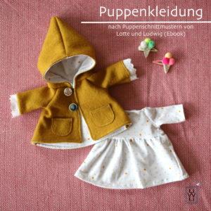 Puppenkleidung nähen Lotte und Ludwig