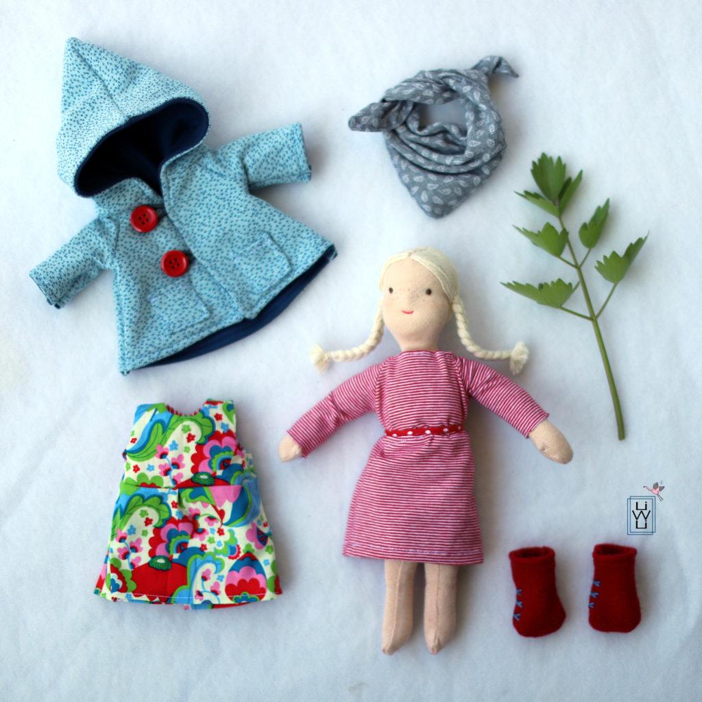 Puppenkleider Kleid Jacke