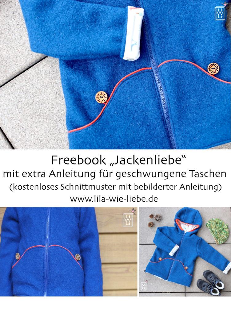 Freebook Jackenliebe kostenloses Schnittmuster geschwungene Taschen Add-On Tutorial