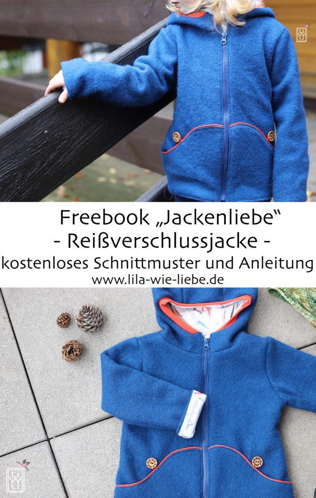 Freebook Jackenliebe Reißverschlussjacke kostenlose Anleitung und Schnittmuster