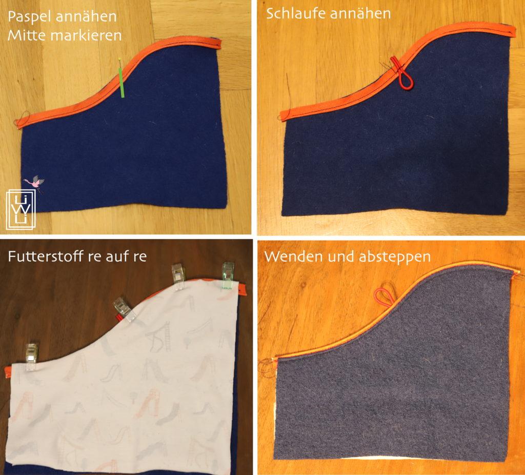 aufgesetzte, geschwungene Taschen annähen, Anleitung, Tutorial