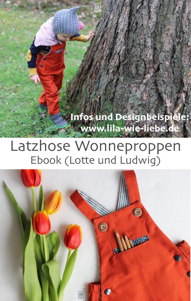 Wonneproppen Ebook Lotte und Ludwig - Latzhose - Lila wie Liebe