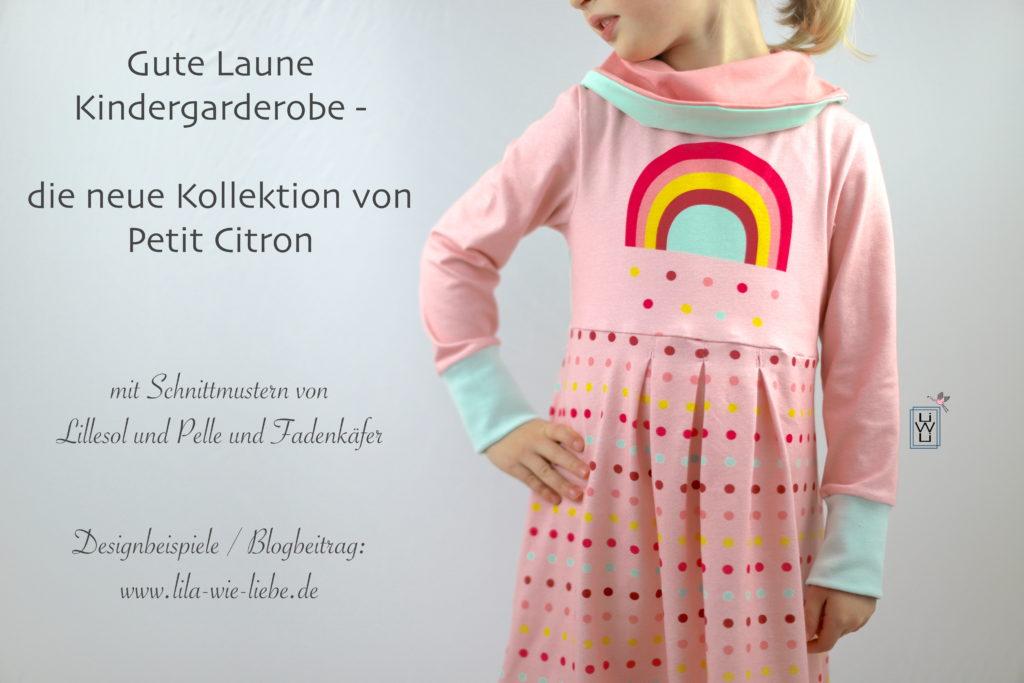 Petit Citron, neue Kollektion Kleid mit Rollkragen, Leggins, Knopfshirt