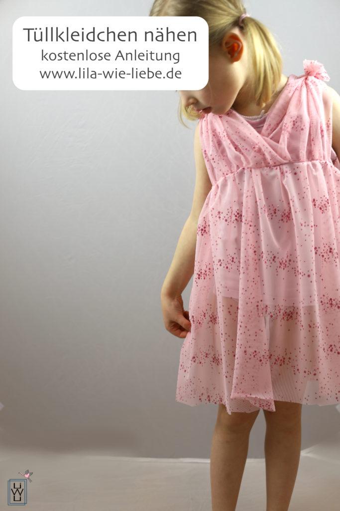 Märchenkleid Tüllkleid Freebook Lila wie Liebe