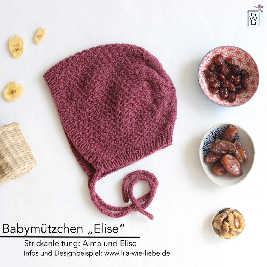 Babymützchen Elise Alma und Elise Strickanleitung