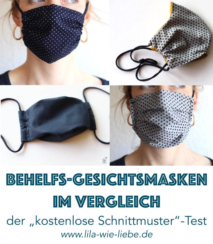 Behelfs Gesichtsmasken nähen Atemmasken Mundschutz vergleich test