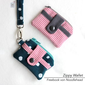 Zippy Wallet Geldbeutel kleine Tasche Freebook Noodlehead