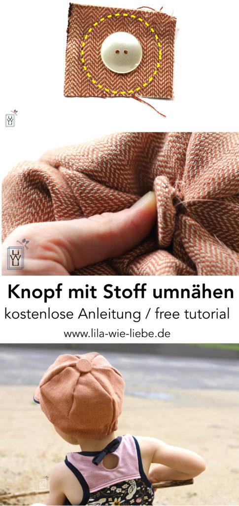 Knopf mit Stoff umnähen, Stoffüberzug, kostenlose Anleitung, free tutorial