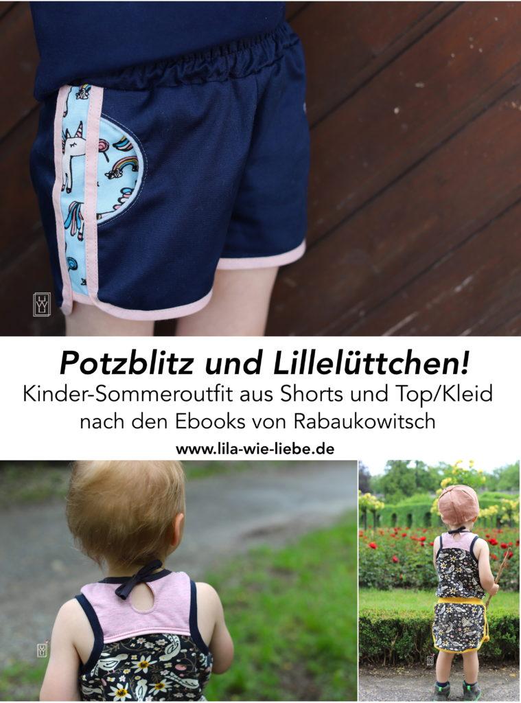 Sommeroutfit Kinder Potzblitz Lilleluettchen Shorts top rabaukowitsch ebook