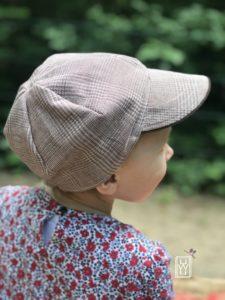 Sommermüzz Freebook Kindermütze lila wie liebe