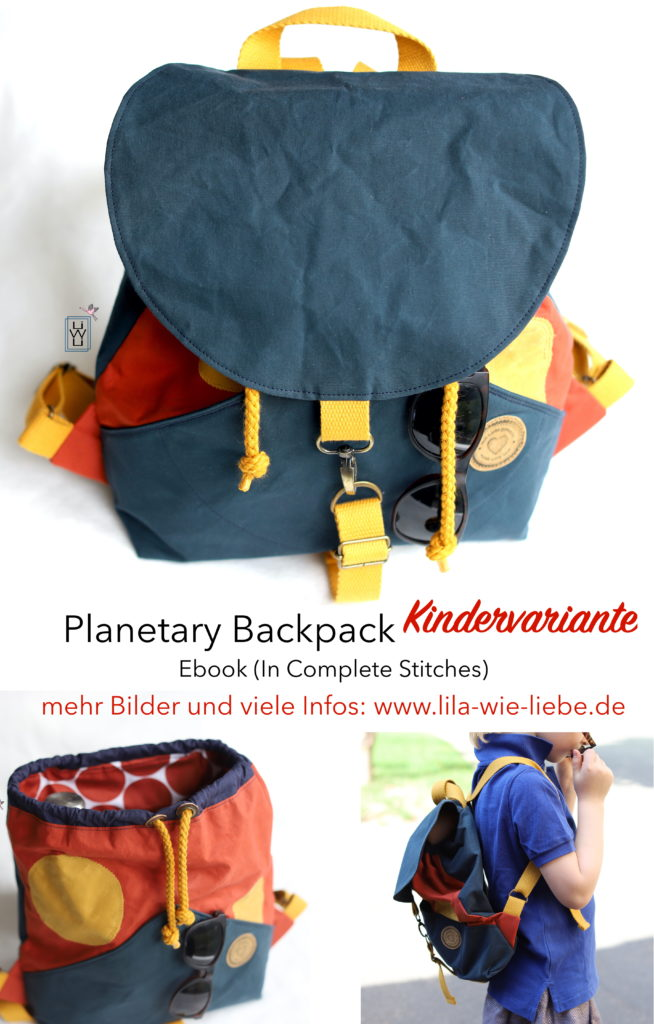 Planetary Bagpack Kids version kinder rucksack in complete stitches naehen