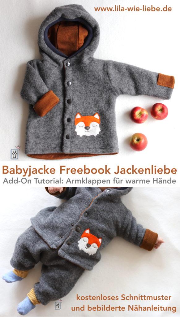 Babyjacke kostenloses Schnittmuster jackenliebe Winterjacke wollfleece selbst nähen