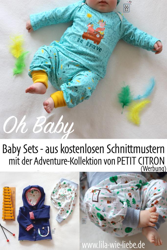 Baby Set Freebooks Nähen Kostenlose Anleitung PETIT CITRON Adventure Collection