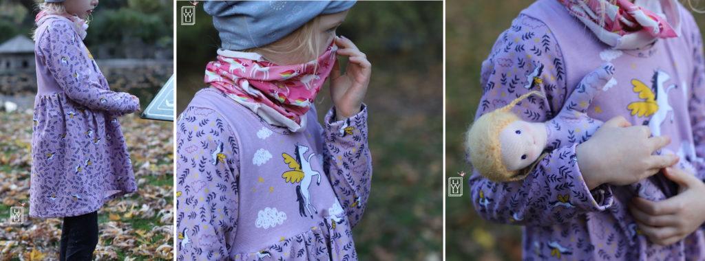 pegasus panel petit citron Kinderkleidungen Stoffe winterteilchen freebook kostenlose anleitung
