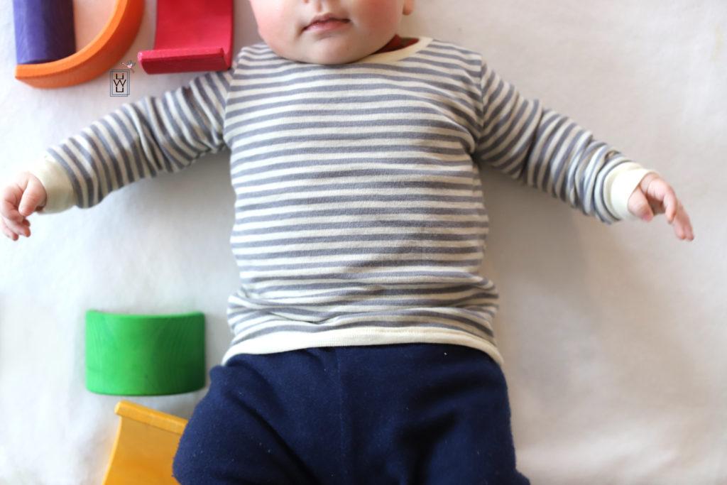 Babyshirt Wolle Seide Silberringel Wollshirt Kinder Freebook