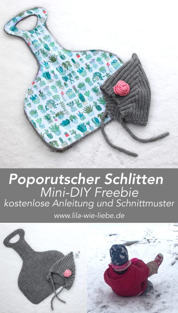 Porutscher Poporutscher DIY Nähen Freebook kostenlose Anleitung Schlitten