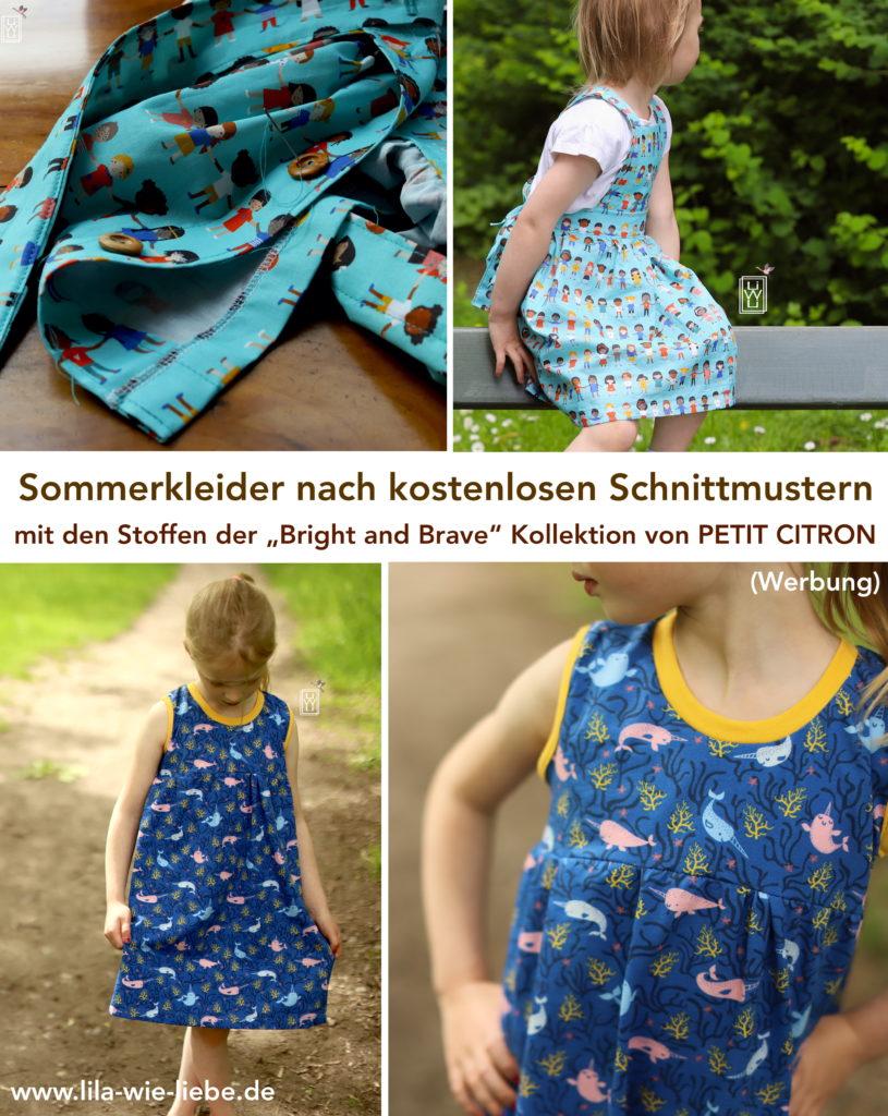 petit citron, bright and brave, Sommerkleider, freebooks, kostenlose Schnittmuster