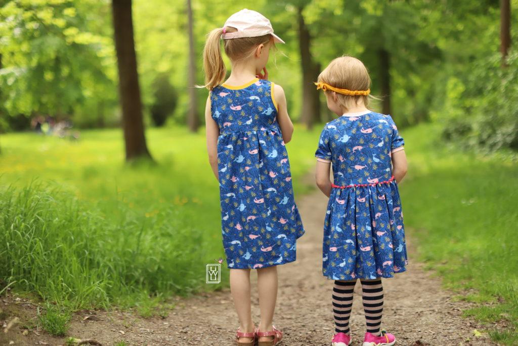 Kinderkleider im Sommer nähen, petit citron, narwal Jersey