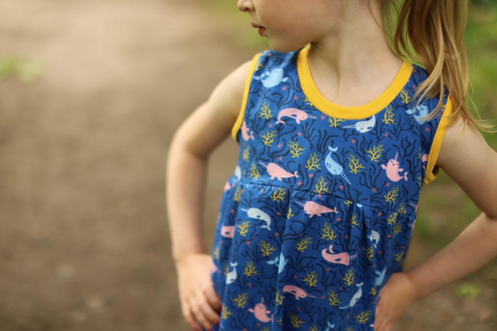 Sommerteilchen Sommerkleid kinder freebook
